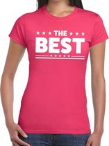 The Best tekst t-shirt roze dames - dames shirt  The Best 2XL