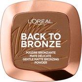 L'Oréal Wake Up & Glow Bronzer - 02 Back To Bronze - Matterende Bronzer