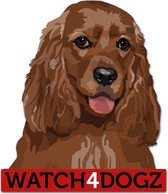 Cocker Spaniel sticker (set van 2 stickers)