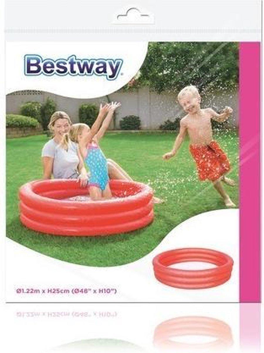 Bestway Kinderbad rond play pool 122 Rood