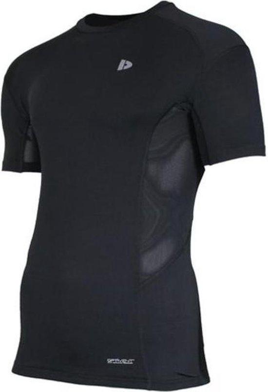 Donnay compressie shirt korte mouw - Baselayer - Heren - Maat M - Zwart