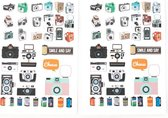Moodadventures   Papier en Knutselen  Set van 2 Stickervellen Camera's