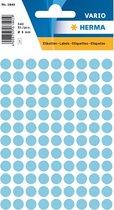 Huismerk Herma 1843 Etiket Rond 8mm Blauw - Pakje met 5 velletjes stickers