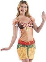 Fotorealistische Jurk - Hawaii - Maat S - Carnavalskleding