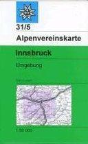 DAV Alpenvereinskarte 31/5 Innsbruck und Umgebung 1 : 50 000 Skirouten