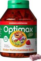 Optimax Kinder Multivitaminen Extra - Framboos - 180 kauwtabletten