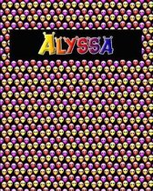 120 Page Handwriting Practice Book with Colorful Alien Cover Alyssa