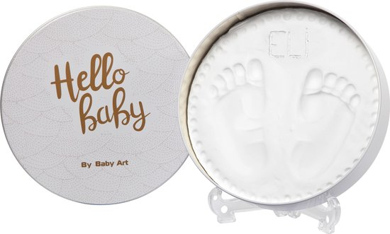 Afbeelding van Baby Art Magic Box round shape (shiny vibes) gipsafdruk