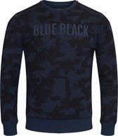 Blue Black Amsterdam Heren Trui Mathijs 2.0 - Blauwe Camouflage - Maat L