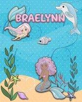 Handwriting Practice 120 Page Mermaid Pals Book Braelynn