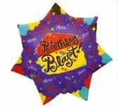 folieballon - Birthday Blast - 45cm - leeg