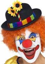 Clown bolhoedje met bloem
