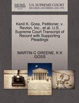 Omslag Kenil K. Goss, Petitioner, V. Revlon, Inc., Et Al. U.S. Supreme Court Transcript of Record with Supporting Pleadings