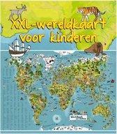 Lifetime Wereldkaart dieren XXL voor kinderen 140 x 95 cm