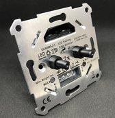 LED Pro dimmer- duo - universel - 0-100 watt - inclusief afdekplaat - dubbele dimmer