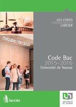 Code Bac pour l'Université de Namur – 2015 - 2016