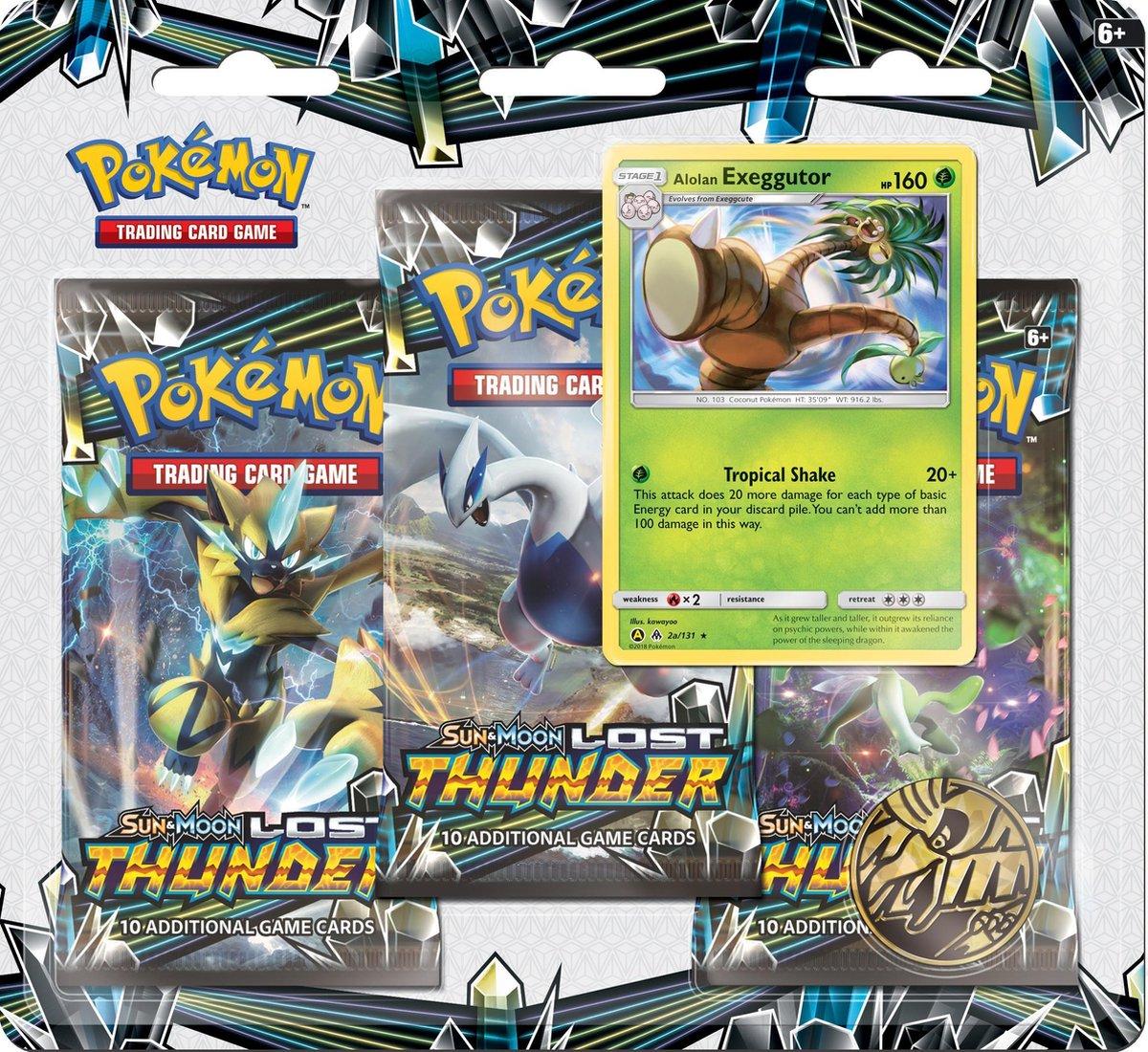 Pokémon Sun & Moon Lost Thunder Boosterblister Exeggutor - Pokémon Kaarten - Pokémon