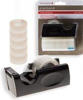 Plakbandapparaat / plakbanddispenser - incl. 6 rollen plakband
