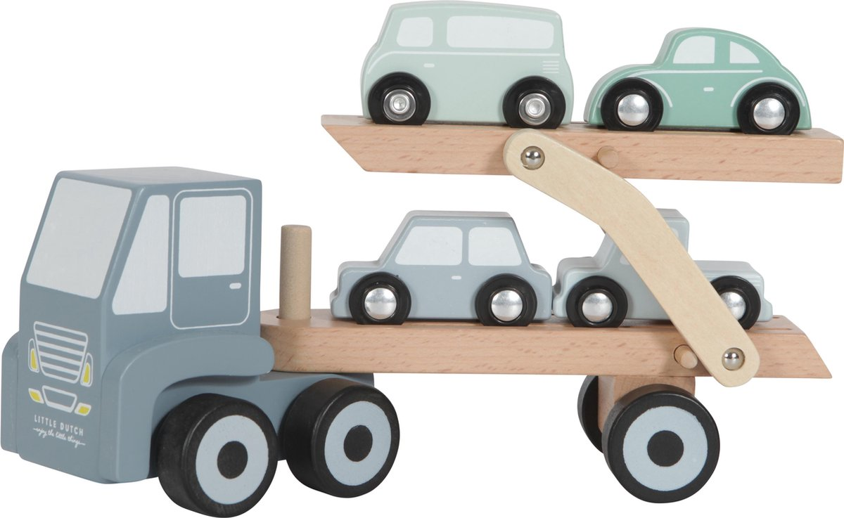 Little Dutch Speelgoed Houten Transportwagen -  Mint