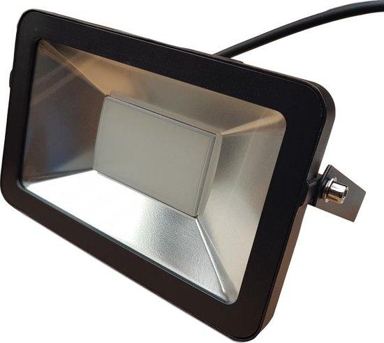 Buitenlamp zwart | LED 50W=550W halogeen schijnwerper | warmwit 4000K | waterdicht IP65