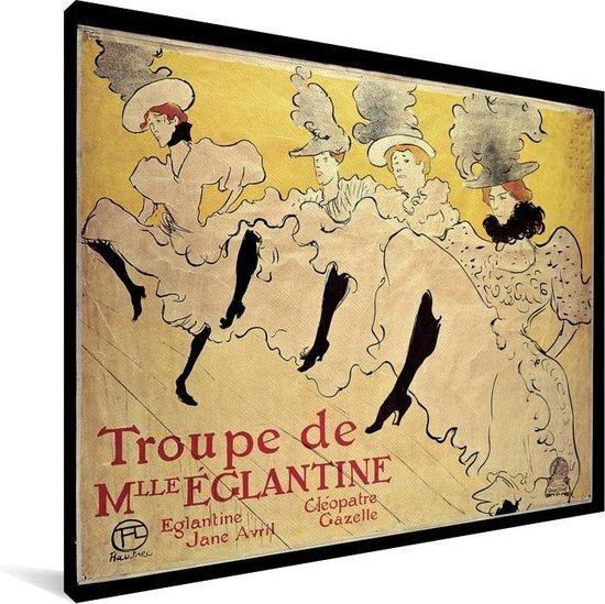 Mademoiselle Eglantine's Troupe - Schilderij van Henri de Toulouse-Lautrec Canvas 160x120 cm - Foto print op Canvas schilderij (Wanddecoratie woonkamer / slaapkamer) XXL / Groot formaat!