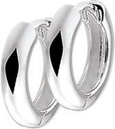 The Jewelry Collection Klapoorringen Half Rond - Zilver