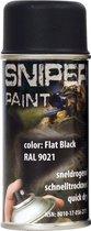spuitbus leger verf 150ml flat black (mat zwart)