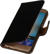 HTC One E8 - Slang Zwart Booktype Wallet Hoesje