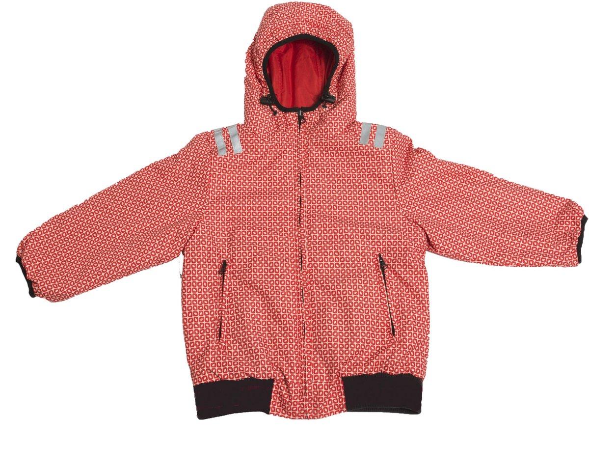 Ducksday omkeerbare jas unisex Funky red - 6 jaar