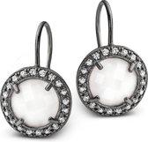 Silventi 921301782 Zilveren oorhangers - Wit / Zilverkleurig