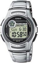 Casio W-213D-1AVES - Horloge - 36 mm - Staal - Zilverkleurig