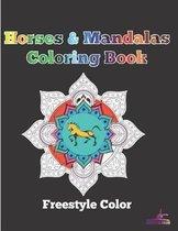 Horses & Mandalas Coloring Book