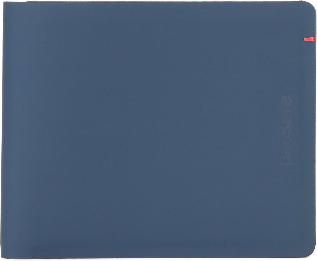 Pacsafe RFIDsafe TEC Bifold Wallet-Portemonnee-Blauw /Rood (Navy / Red)