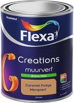 Flexa Creations Muurverf - Extra Mat - Caramel Fudge - 1 liter