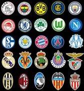 Voetbal clubs stickers 50 stuks - Europese Top ploegen