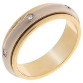 Orphelia TRD-DA05/B/DE/54 - Ring - geelgoudkleurige 18 Karaat - Diamant 0.12 ct