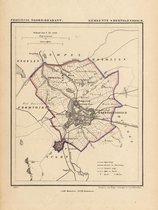 Historische kaart, plattegrond van gemeente s Hertogenbosch of Den Bosch in Noord Brabant uit 1867 door Kuyper van Kaartcadeau.com - Veelkleurig