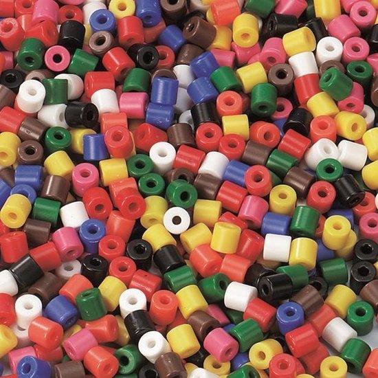 Afbeelding van het spel Kralenplank-kralen 1000 stuks, 9 kleuren