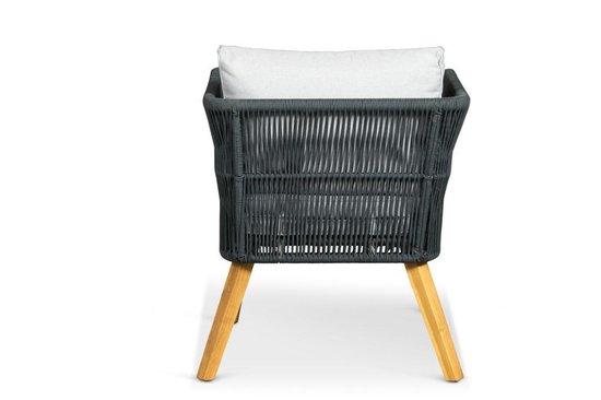 Lanterfant® Loungeset Fabian – Ropeset – Aluminium frame - Zwart - Lanterfant®