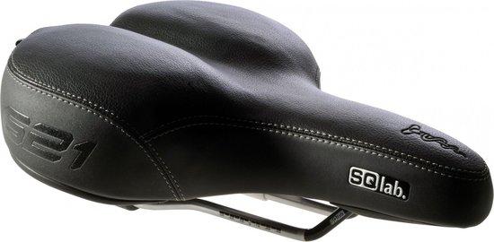 SQlab 621 Active - Fietszadel - Breedte 18 cm - Zwart