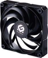 MetallicGear SKIRON MG-F120 PWM, 4-Pin High Airflow Fan (120mm, Black) - Powered by Phanteks