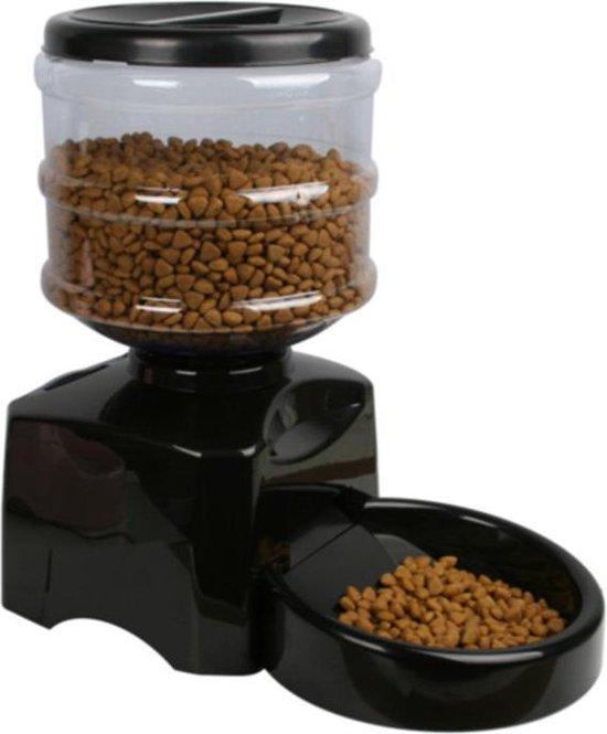 Lovely Pets - Slimme automatische voerbak voor honden en katten - 5,5 l droogvoer - Automatisch programmeerbaar - Instelbaar voedingsschema - Boodschap inspreken