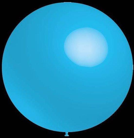 3 stuks Mega grote blauwe ballonnen 90 cm