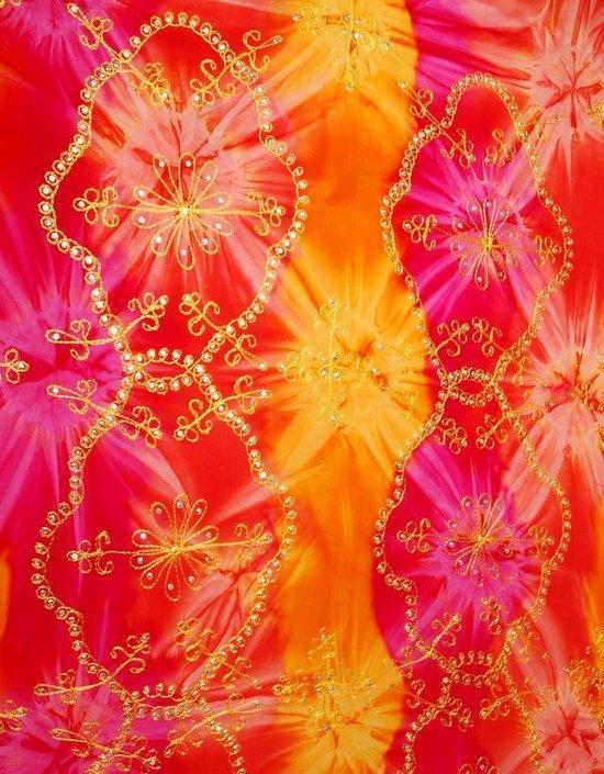 Luxe sarong hamamdoek wikkeljurk met pailletten 165 cm bij 115 cm uit Bali - Wanwisa