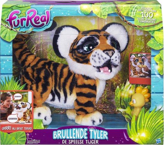 FurReal Brullende Tyler, de Speelse Tijger - Interactieve knuffel