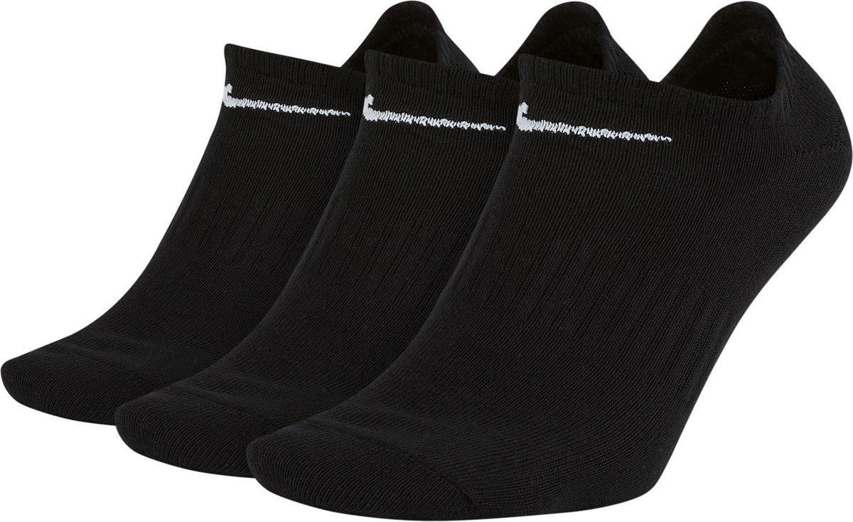 Nike Everyday Lightweight No-Show Sokken Sportsokken - Maat 43-46 - Unisex - zwart/wit Maat 42-46