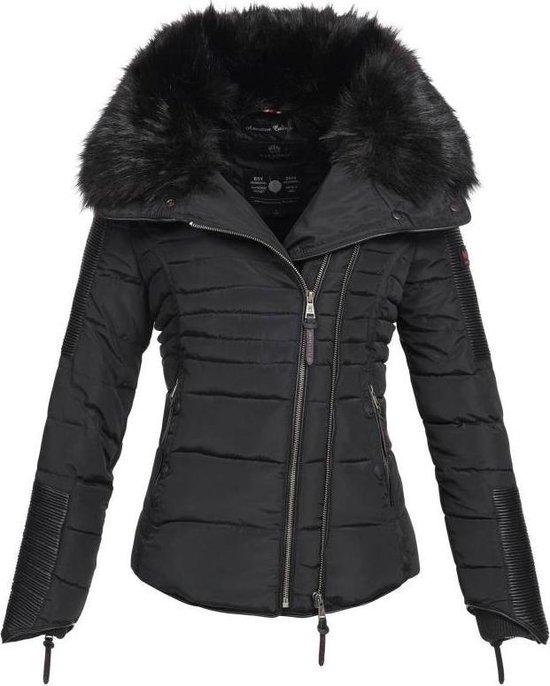 | Navahoo stijlvolle korte dames winterjas zwart