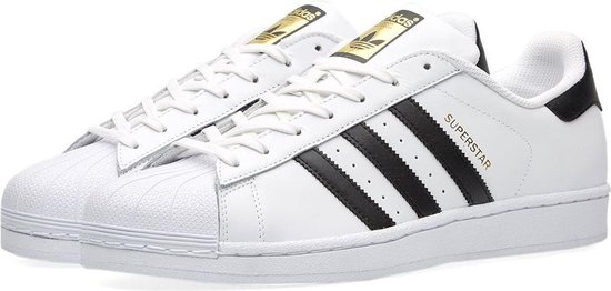 adidas Superstar Foundation - Sneakers - Unisex - Wit/Zwart/Goud - Maat 38