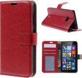 Cyclone wallet hoesje Microsoft Lumia 535 rood