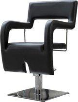 Kappersstoel - Design stoel uitgevoerd in PU-leer